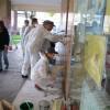 Monza, missione compiuta: il palazzo dell'Ufficio d'Igiene torna pulito