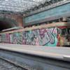 Napoli. Circumflegrea, i treni completamente «oscurati» da writers e vandali