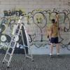 Sette ore per colorare il cemento duecento writers sfidano il Comune