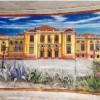 Murales ricorda l'ex casinò di Bordighera