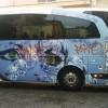 Scritte su un autobus: giovane writer denunciato