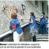Un movimento antigraffiti ripulisce i muri da Milano a Roma