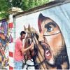 A San Siro si colora il maximuro in azione trecento writer europei