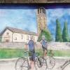 Binago, restaurato il murale dei ciclisti. Pagano i tre ragazzi che lo danneggiarono