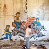 Street-artist di mezza Italia dipingono l'occupazione