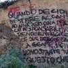 La parete del Fortino dei Castriciani imbrattata dai vandali