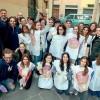 Tanti sorrisi, pennelli e 20 litri di vernice Il Canto Ghibellino ripulito dai volontari