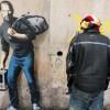 Steve Jobs in un graffito di Banksy