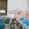 Via delle Canterine imbrattata dai writers