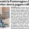 Imbrattò la Fontemagna e la cisterna Il writer dovrà pagare mille euro