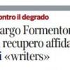 Largo Formentone Il recupero affidato ai « writers »