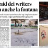 Nuovo raid dei writers sporcata anche la fontana