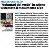 """""""Volontari del verde"""" in azione Sistemato il monumento al re"""