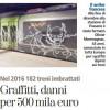 Graffitti, danni per 500 mila euro
