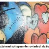 Già imbrattato il murales nel sottopasso via bosco Lucarelli