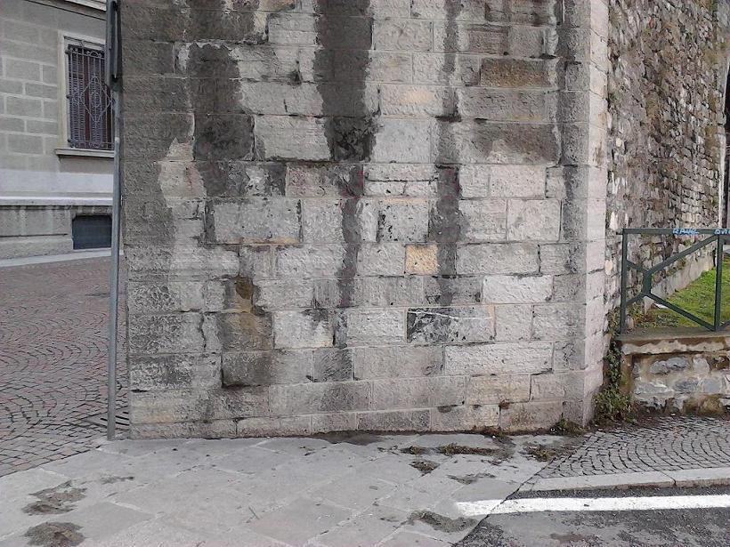 Intervento finito: muro pulito