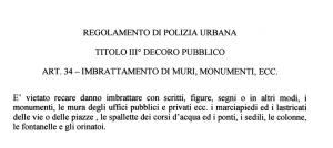 regolamento polizia municipale di Monza
