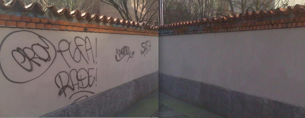 Prima e dopo in Largo Paolo Grassi