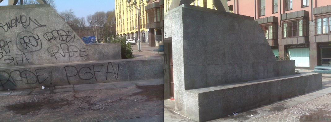 Prima e dopo monumento
